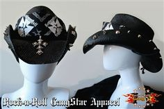 d8ad9fc18caff6 Custom Shapeable Cowboy Hat black version 1 Rock and Roll Heavy Metal hats  accessories