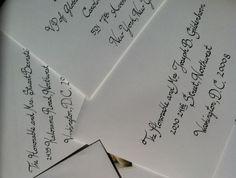 A pile of classic cursive