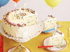 Get Fluffy Confetti Birthday Cake Recipe from Food Network