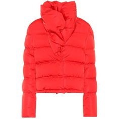 Givenchy Puffer Down Jacket (88.560 RUB) ❤ liked on Polyvore featuring outerwear, jackets, red, red puff jacket, puffy down jacket, down puffer jacket, givenchy and down filled puffer jacket