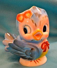 Adorable 1950's Lefton Bluebird vase by fromthebutlerspantry, $55.00