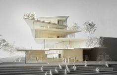 Filigree Clad Arnhem ArtA Cultural Center - Kengo Kuma