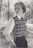 Housewife 1950 Ladies fair isle knitting patterns