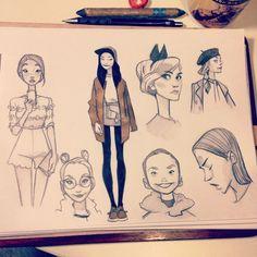 Anna Cattish #sketching #girls #lookbook #fashion156