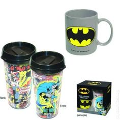 Plasctic Travel Mug & 11 oz. Ceramic Mug Batman 2, Living Dead Dolls, Travel Packing, Mugs Set, Toys For Girls, Mug Cup, Travel Mug, Dc Comics, Action Figures
