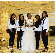 Bridesmaids in Tuxedos! Yaas!
