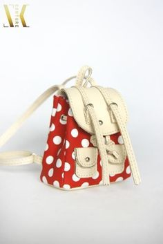 SKB07 Cute Red Backpack Bag for Blythe Pullip Dal Azone Poppy Fashion Royalty #SK