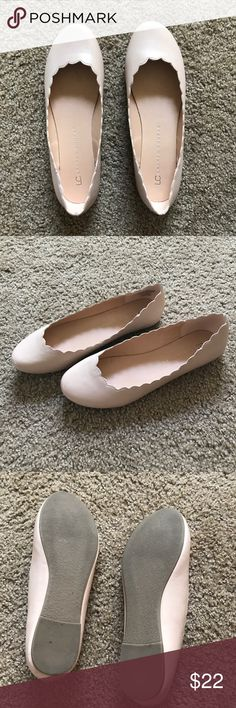 LC by Lauren Conrad Blush Pink Shoes scalloped blush pink shoes; like new; womens size 8 LC Lauren Conrad Shoes Flats & Loafers
