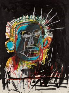 Jean-Michel Basquiat - Untitled, oilstick and ink on paper Jean Michel Basquiat Art, Jm Basquiat, Art Pop, Modern Art, Contemporary Art, Collages, Tape Art, Retro Wallpaper, Keith Haring