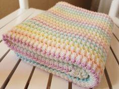 Made in K-town: Starlight Baby Blanket - Free Crochet Pattern.