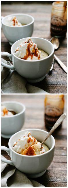 Banana Caramel Mug Cake