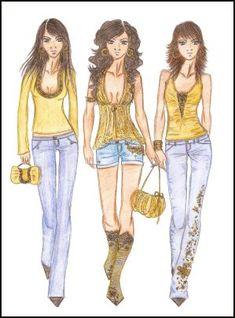 Fashion-era di moda Disegni di progettazione pages.Fashion di Anne Westphal - Galleria 30 Progettato in Design 2006
