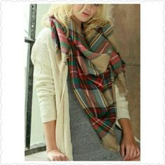 5d9d72fd7 Multi color #plaid #oversized #blanket scarf Get Boutique #Scarves from me  on