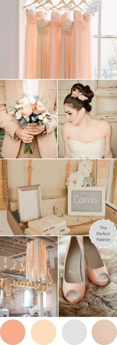 Pretty Peachy | A Palette of Peach, Gray and Beige