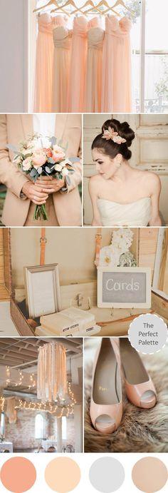 peach wedding pallette