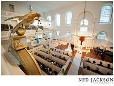 Simple wedding in the historic setting of Old South Meeting House. Image courtesy of Ned Jackson Photography.