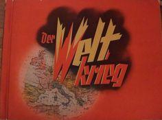 Cigaretten-Bilderdienst Dresden (Hg.): Der Weltkrieg [1914-1918]. 72 Seiten mit  270 eingeklebten farbigen Sammelbildern, mit Erläuterungen und Kartenskizzen, Paperback, im Pappschuber, Querformat 35 x 26 cm.