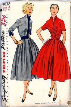 vintages ladies skirts | Vintage 1950s Rockabilly Womens Full Skirt Dress Sewing Pattern Size S