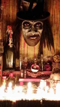 Papa Legba voodoo altar