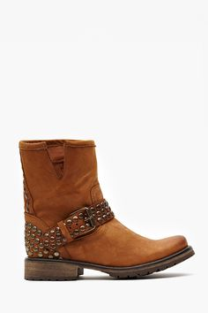 Frankie Studded Boot in Tan
