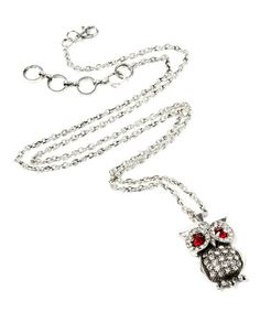 Take a look at this Antique Silver Eyeing Owl Necklace by Amrita Singh on #zulily today! $19 !!