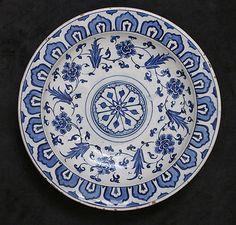 Date: 16th century Geography: Turkey, Iznik Culture: Islamic Medium: Stonepaste; painted and glazed Dimensions: Gr. H. 2-1/4 in. (5.7 cm) Diam. 11 in. (27.9 cm) Classification: Ceramics