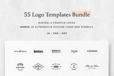 55 Logo Templates Bundle @creativework247