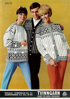 Røldal i Peer Gynt eller Smart, gratisoppskrift på sandnesgarn. Knit Stranded, Norwegian Knitting, Fair Isle Knitting, Vintage Knitting, Knitting Patterns, Knit Crochet, Retro, Sweaters, Prints