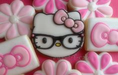 hello kitty nerd cookie by https://www.facebook.com/sweettcakes?ref=streamToo cute to eat!!!