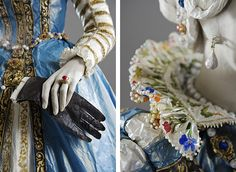 Isabelle de Borchgrave's paper representations of the past might be scented with fragrances favored in the period.