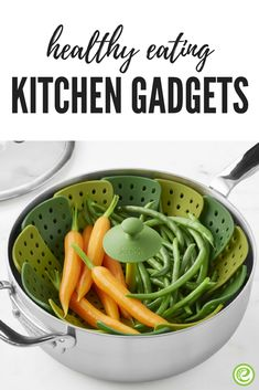 Meet your healthy-eating goals with fun kitchen gadgets and tools that are designed to help you make healthier choices when you cook more at home. Quick Healthy Meals, Healthy Diet Plans, Healthy Snacks For Kids, Healthy Habits, Healthy Cooking, Healthy Choices, Healthy Eating, Healthy Recipes, Cool Kitchen Gadgets