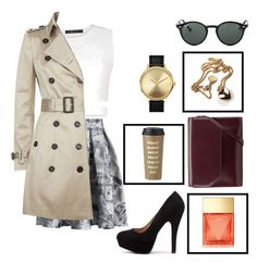"""""""Untitled #153"""" by stefaniareyna ❤ liked on Polyvore featuring BCBGMAXAZRIA, Chicwish, Burberry, Ray-Ban, Nixon, Kin by John Lewis, Kate Spade and Michael Kors"""