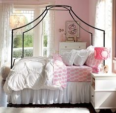 Nursery Notations: High vs Low - Iron Canopy Bed