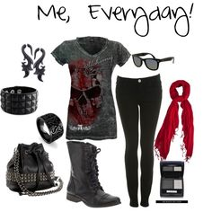 Me, Everyday!, created by kford-636 (This is completely my average daily look)