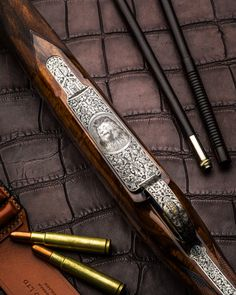 Westley Richards .416 Bolt Action Rifle. Engraved by Chung