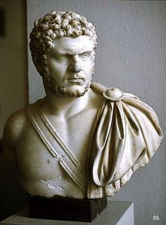 Emperor Caracalla, Roman bust (marble) 2nd-3rd century AD, (Pergamonmuseum, Berlin).