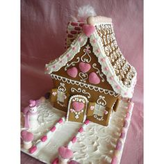 Valentine #Gingerbread #House by With Love & Confection