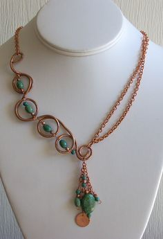 Ear Rings for the Asymmetrical Chrysocolla Necklace (Customer Design) - Lima Beads