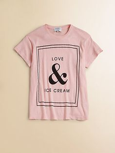 Wildfox Kids - Girl's Love & Ice Cream Tee - Saks.com