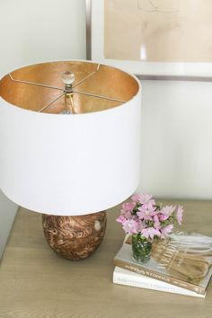 Woodgrain lamp: http://www.stylemepretty.com/living/2015/04/22/15-gleaming-gold-accents/