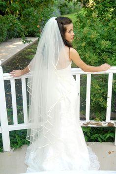 waltz length wedding veils - Google Search