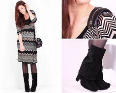 Missoni Dress, Alexander Wang Handbag, Dogeared Necklace, Sam Edelman Boots