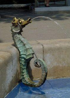 Seahorse Decor, Sea Dragon, Art Sculpture, Sea Monsters, Sea Creatures, Coastal Decor, Water Features, Under The Sea, Strand