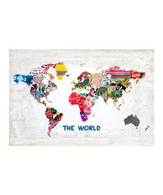 Take a look at this Hipster World Art Print by Oliver Gal on #zulily today!