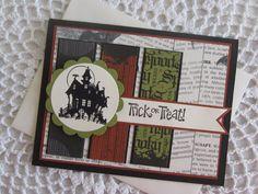 Stampin' Up Handmade Greeting Card Halloween by ConroysCorner, $4.00