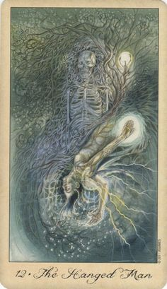 78 Whispers In My Ear: Daily Draw- The Hanged Man (The Undead/Vampire) Ghosts & Spirits Tarot