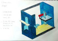 아이디어 스케치 1  proun - 4, El Lissitzky
