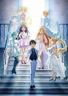 SAO-Ex-Chronicle Anniversary exhibition poster Anime: Sword Art Online Tags: Schwertkunst Online, Online Anime, Sword Art Online Kirito, Happy Manga, Dibujos Anime Chibi, Sao Anime, Desenhos Love, Sword Art Online Wallpaper, Sword Art Online Poster