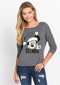 Tričko s Disney potlačou antracitová potlačená  • 14.99 € •  bonprix Disney Style, Graphic Sweatshirt, T Shirt, Mickey Mouse, Sweatshirts, Long Sleeve, Prints, Disney Fashion, Venus