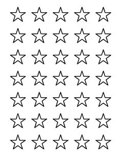 1 inch star pattern. Use the printable outline for crafts, creating stencils, scrapbooking, and more. Free PDF template to download and print at http://patternuniverse.com/download/1-inch-star-pattern/